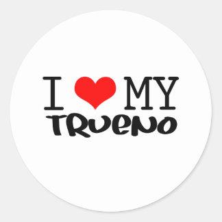 "Classic ""I love My Trueno"" design Classic Round Sticker"