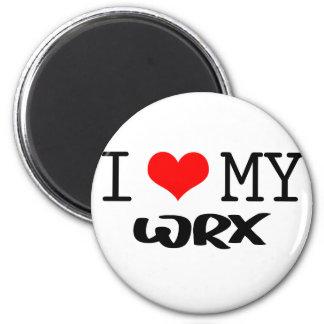 "Classic ""I Love My WRX"" design Magnet"