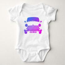 Classic Iconic British Austin mini Cooper Baby Bodysuit