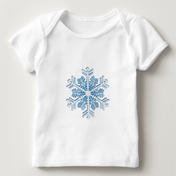 Classic Icy Blue Winter Christmas Snowflake Baby T-Shirt