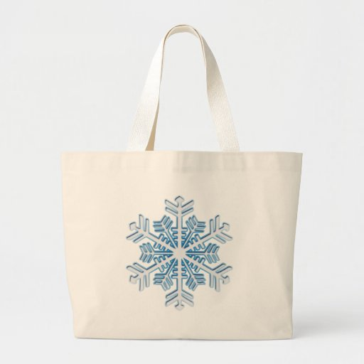 Classic Icy Blue Winter Christmas Snowflake Canvas Bag