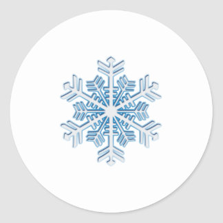 Classic Icy Blue Winter Christmas Snowflake Classic Round Sticker