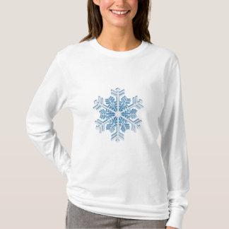 Classic Icy Blue Winter Christmas Snowflake T-Shirt
