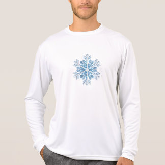 Classic Icy Blue Winter Christmas Snowflake T Shirts