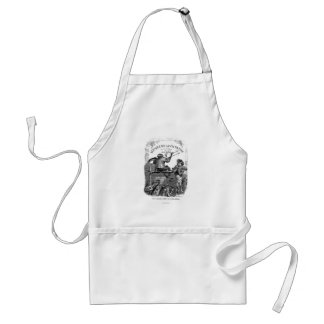Classic Illustration Animals Painting a Picture Adult Apron