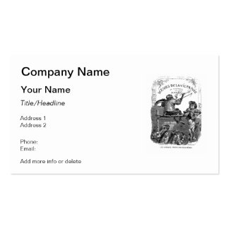 Classic Illustration Animals Painting a Picture Business Card Template