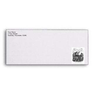 Classic Illustration Animals Painting a Picture Envelope