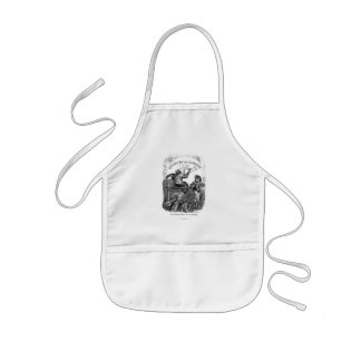 Classic Illustration Animals Painting a Picture Kids' Apron