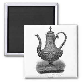 Classic Illustration Coffeepot by Christofle 2 Inch Square Magnet