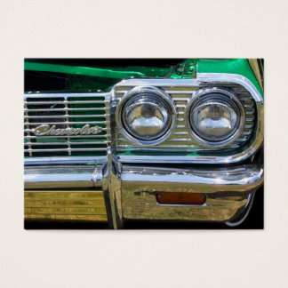 classic impala chrome with green paint business card