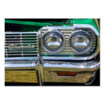 classic impala chrome with green paint business card templates