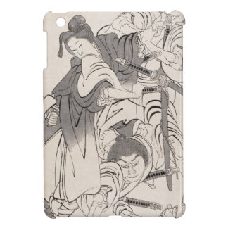 Classic ink painting warriors samurai Hokusai art iPad Mini Case