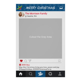 Classic Instagram Frame Christmas Party Photo Prop Poster