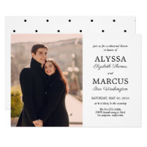 Classic Invite Wedding Rehearsal Dinner Engagement