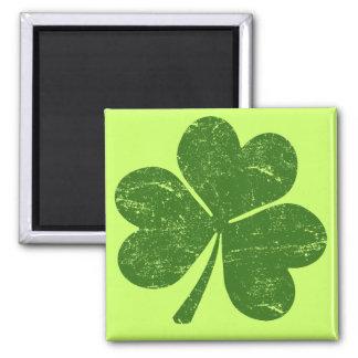 Classic Irish Shamrock 2 Inch Square Magnet