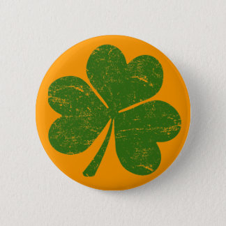 Classic Irish Shamrock Button