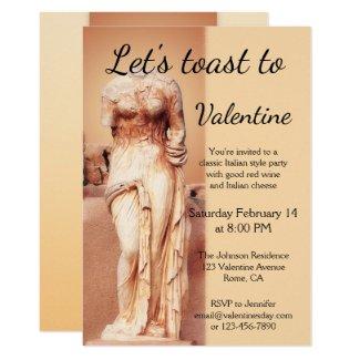 Classic Italian Love Goddess Valentine Invitation