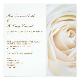 Classic Ivory White Wedding Evening Reception Card