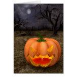 Classic Jack-O-Lantern Halloween Card