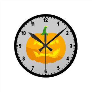 Classic Jack-O-'Lantern Round Clock