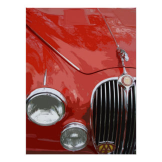 CLASSIC JAGUAR MK.2 (RED) POSTER