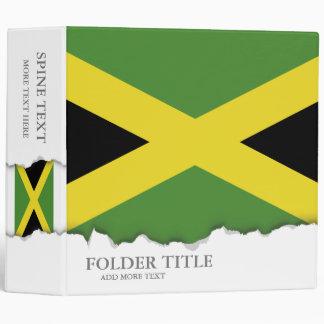 Classic Jamaican Flag 3 Ring Binder