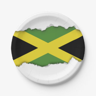 Classic Jamaican Flag Paper Plate