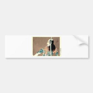 Classic Japanese Legendary Samurai Warrior Art Bumper Sticker