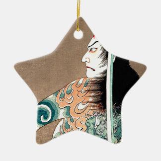 Classic Japanese Legendary Samurai Warrior Art Ceramic Ornament