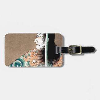 Classic Japanese Legendary Samurai Warrior Art Luggage Tag