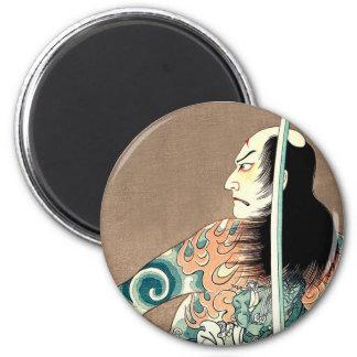 Classic Japanese Legendary Samurai Warrior Art Magnet