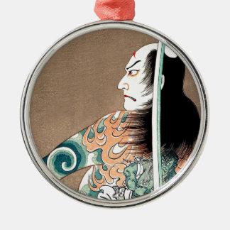 Classic Japanese Legendary Samurai Warrior Art Metal Ornament
