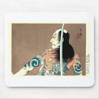 Classic Japanese Legendary Samurai Warrior Art Mouse Pad