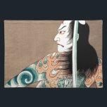 "Classic Japanese Legendary Samurai Warrior Art Placemat<br><div class=""desc"">Classic Japanese Legendary Samurai Warrior Art 