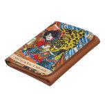 Classic japanese legendary samurai warrior art wallets