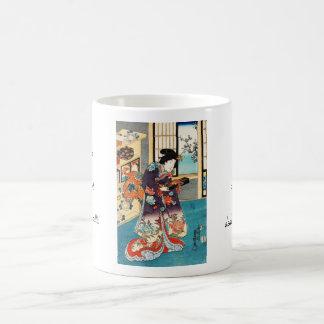 Classic japanese vintage ukiyo-e geisha Utagawa Coffee Mug