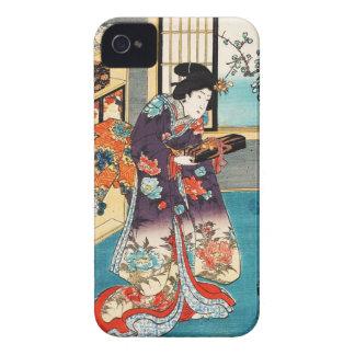 Classic japanese vintage ukiyo-e geisha Utagawa iPhone 4 Cover
