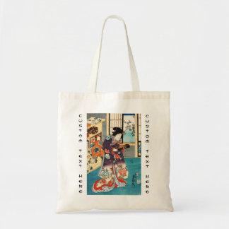 Classic japanese vintage ukiyo-e geisha Utagawa Tote Bag