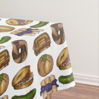 Classic Jewish Deli Foods Bagel Lox Knish Blintz Tablecloth