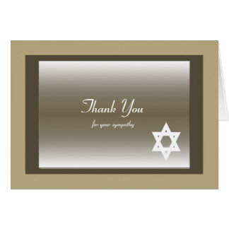 Classic Jewish Sympathy Thank You Card Greeting Card