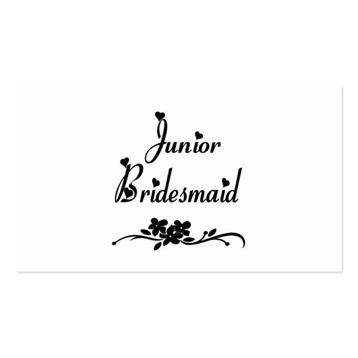 Classic Junior Bridesmaid Business Card