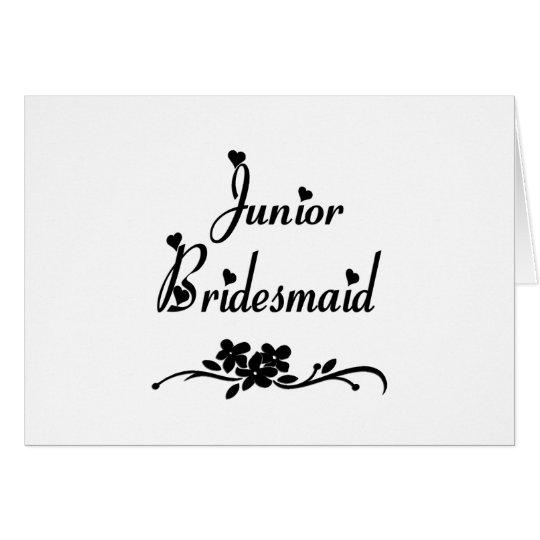 Classic Junior Bridesmaid Card