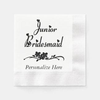 Classic Junior Bridesmaid Paper Napkin