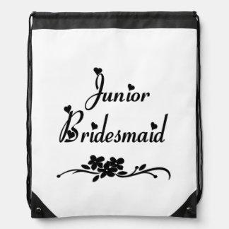Classic Junior Bridesmaid Drawstring Backpack