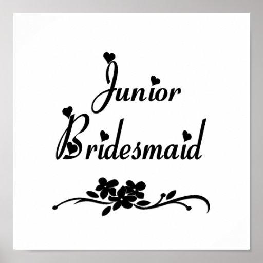Classic Junior Bridesmaid Poster