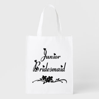 Classic Junior Bridesmaid Reusable Grocery Bag