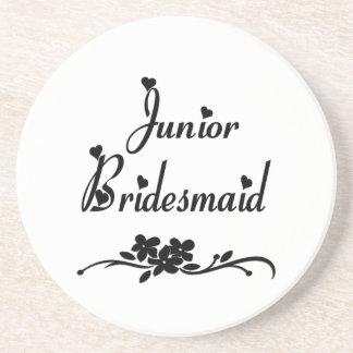 Classic Junior Bridesmaid Sandstone Coaster