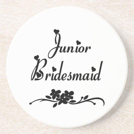 Classic Junior Bridesmaid Sandstone Coaster