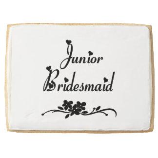 Classic Junior Bridesmaid Shortbread Cookie