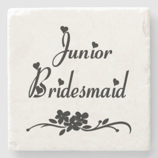 Classic Junior Bridesmaid Stone Coaster
